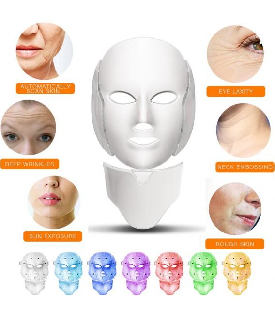 ماسک صورت و گردن LED Mask